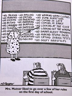 CLASSROOM MANAGEMENT: After my students see these rules (and chuckle a little), my rules don't seem so bad.