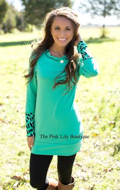 Little Miss Independent Green Hoodie - The Pink Lily Boutique
