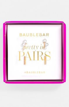 BaubleBar 'Modern' Stud Earring Gift Set available at #Nordstrom