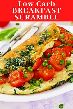 A delicious low carb breakfast is just minutes away with a couple of eggs and some healthy ingredients you have in your pantry or fridge. Start the day right with the simple and tasty healthy breakfast egg scramble.  #keto #ketorecipe