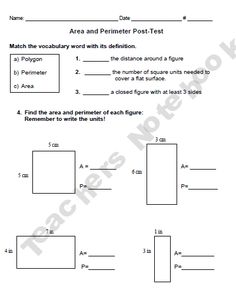 area and perimeter worksheets rectangles and squares math teaching ideas pinterest. Black Bedroom Furniture Sets. Home Design Ideas
