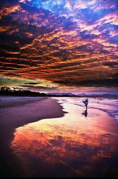 Wave clouds & surfer