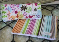 Handmade Burp Cloths Set of 2 Striped