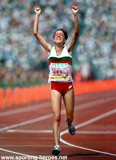 Rosa Mota -  medalha de ouro na maratona Seul 1988