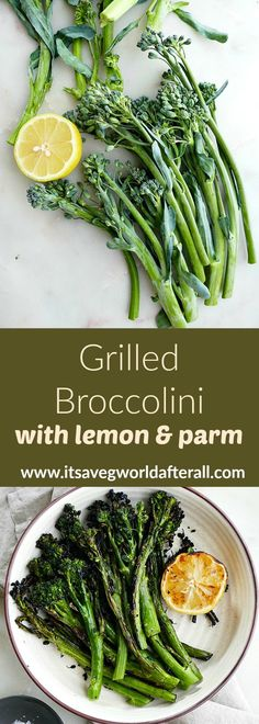 Fire up the grill and make this delicious broccolini for summer cookouts or the 4th of July. It comes together in only 15 minutes and is sure to be a crowd pleaser! #grilledveggies #sidedishes #cookouts Easy Vegetable Dishes, Healthy Vegetable Recipes, Broccoli Recipes, Vegetarian Meals, Grilled Vegetables, Italian Vegetables, Summer Side Dishes, Food Dishes