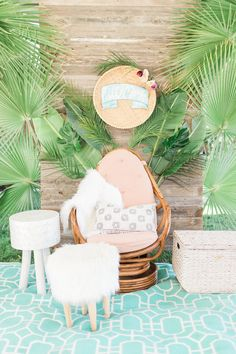 Tropical baby shower ideas (100 Layer Cakelet)