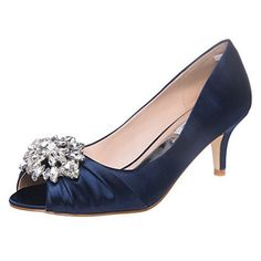 9b122e75085c navy blue dress shoes satin amazon  NavyWedding  ShoesWithDress Navy Blue  Wedding Shoes