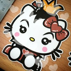 Hello Kitty Queen of Hearts sticker/decal