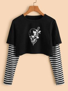 Edgy Outfits, Grunge Outfits, Cute Casual Outfits, Pretty Outfits, Girls Fashion Clothes, Teen Fashion Outfits, Outfits For Teens, Girl Fashion, Kawaii Clothes