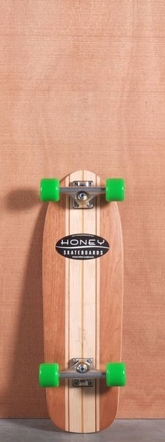"""The Honey 29"""" Pugsley Longboard Complete is designed for Campus Cruising, Park and Pool. Ships fully assembled and ready to skate!  Function: Campus Cruising, Park, Pool  Features: Concave, Kick Tail  Material: 7 Ply Maple With Mahogany  Length: 29.00""""  Width: 9.00""""  Wheelbase: 16.875""""  Thickness: 1/2""""  Hole Pattern: New School  Grip: Clear"""
