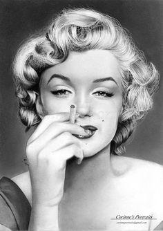 Marilyn Monroe by Sadness40 on DeviantArt