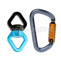 Clever Swing Spinner Swing Swivel Carabiner 30kn Aluminum Alloy Safety Rotational Device 2019 Official