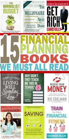 If you are looking for financial planning books that will help you and motivate … – Finance tips, saving money, budgeting planner Financial Literacy, Financial Tips, Financial Planning, Financial Assistance, Financial Dashboard, Financial Peace, Dave Ramsey, Reading Lists, Book Lists