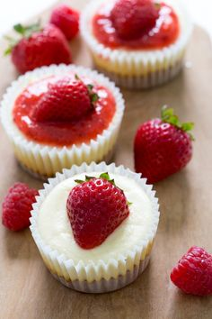 Your family will go crazy for these super easy Mini Cheesecake Cupcakes! These adorable bite sized mini desserts are layered with a graham cracker crust and creamy, tangy cheesecake filling, then topped with salted caramel or strawberry sauce. These make ahead desserts are perfect for a crowd, plus you won't believe how easy they are to make! Be the star of this summer's potluck when you bring these Mini Cheesecake Cupcakes!   chefsavvy.com #cheesecake #dessert #makeahead #easydesserts Mini Cheesecake Cupcakes, Mini Cheesecake Recipes, Mini Cheesecakes, Cupcake Recipes, Baking Recipes, Cupcake Cakes, Dessert Recipes, Cheesecake Cups, Healthy Recipes