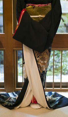 Geisha's kimono... j'adore les drapés, en général de toute façon