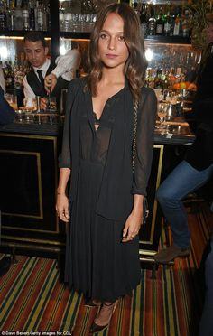 On Monday, Alicia Vikander, 28, showcased her softer side during the CDLP Crayfish Party at Mark's Club in London