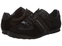 Hugo Boss Akeen Mens 50247604-001 Black Leather & Suede Casual Sneakers Size 9