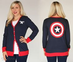 "The Marvel by Her Universe line of ""geek couture"" is premiering with an action-packed assortment of Captain America fashion items along with fan favorite Marvel characters on fashion tops, tanks, dresses, cardigans, hoodies, skirts, leggings and more that will inspire fangirls of all ages to channel their inner Super Hero."