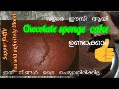 Chocolate sponge cake - YouTube Chocolate Sponge Cake, Cake Youtube, Cooking Recipes, Recipes