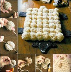 Sheep Pom Pom Rug