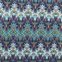 blue traditional Indonesian Batik style,batik sarong fabric. 2 yards by TheThailand on Etsy