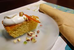 Perfectly tender semolina olive oil cake with orange,honey and pistachios. Perfect birthday cake or any occasion Olive Oil Cake, Pistachios, Easy Meals, Food And Drink, Honey, Birthday Cake, Pudding, Cakes, Orange