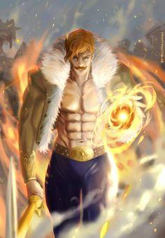 Escanor   Nanatsu No Taizai Seven Deadly Sins Tattoo, Escanor Seven Deadly Sins, I Love Anime, Anime Guys, Manga Anime, Anime Art, Character Concept, Character Design, Animé Fan Art