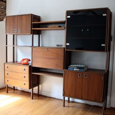 Furniture,Enticing Modular Shelving Units Design Ideas With Drawers And Contemporary Brown Mahogany Wooden Flooring,Stylish Modern Modular Shelving Units Design Ideas