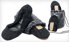 Groupon - $20 for Black Cable CitySlips Foldable Flats in S–L with a Matching Carrying Pouch ($58 List Price). Free Shipping. in Online Deal. Groupon deal price: $20.00