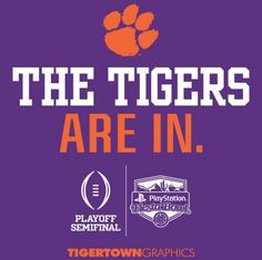 ALL. IN. #CFBPlayoff #championshipphase Clemson Football, Calm