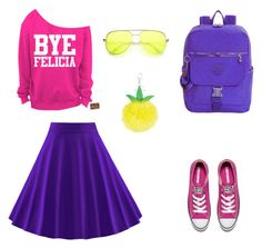 """""""Урок 2, холодный сет #2"""" by suvevi on Polyvore featuring WithChic, Accessorize, Converse and Kipling"""