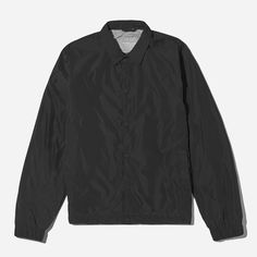The quintessential coach jacket. Ours has a water-resistant exterior, snap buttons, and a striped jersey-pique lining—plus, that drawstring cord detail at the bottom. Just like the classics—only better. Adidas Jacket, Bomber Jacket, Modern Essentials, Striped Jersey, Sustainable Fashion, Most Beautiful, Shirt Dress, Mens Tops, Jackets