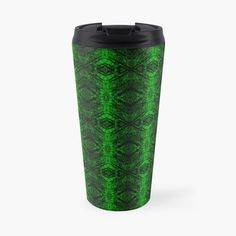 'Chic Abstract Emerald Green Pattern' Travel Mug by HavenDesign Green Pattern, Travel Mugs, Mug Designs, My Coffee, Sell Your Art, Emerald Green, I Shop, Original Art, Art Prints