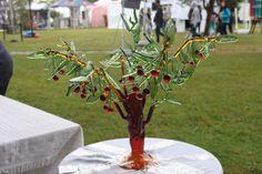 Kiraz ağacı cam üfleme sanatı