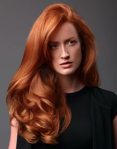 "Goldwell Long Red Hairstyles ""HAIR"" Pinterest"