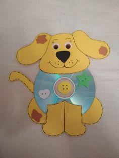 Tvoření z CD - pejsek
