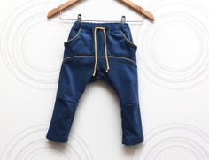 Toddler boy cord pants Organic cotton turquoise trousers Diaper baby boy Pull up pants Ethical kids clothing  // Size US 1.5, 2 (EU 86, 92) on Etsy, $48.10
