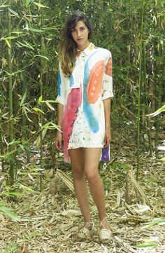 SURI shirt dress Handpainted  One of a Kind Limited edition Suite 13 collection nº9 Made in Barcelona