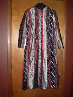 jacket made from neckties