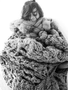 Wrap yourself in wool.  A jacket would look awesome with this size and variation - just toned down more than this picture!