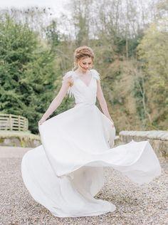 Image by Georgina Harrison Photography - Brinkburn Northumberland Wedding London Bride, London Wedding, Bohemian Wedding Dresses, Elegant Wedding Dress, Boho Wedding, Princess Bride Dress, Bride Dress Simple, Lace Bride, Boho Bride