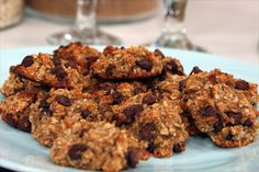 Guilt-Free Quinoa Cookies | Steven and Chris | The secret ingredient in these nutritious and delicious chocolate-chip cookies? The amazing protein power of quinoa! By Peggy Kotsopoulos 4 large, very-ripe bananas 2 tbsp almond butter 1/2 cup coconut sugar 1/2 tsp vanilla 1 cup cooked whole-grain quinoa 1...