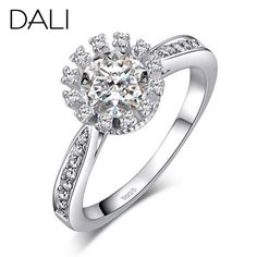 DALI Luxury Platinum Plated  Engagement Wedding Ring for Ladies AAA Cubic Zircon Christmas Gift Jewelry Fashion Ring DR33