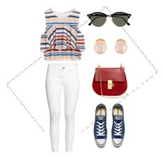 """""""Untitled #25"""" by munaa63 ❤ liked on Polyvore featuring H&M, Converse, Chloé, Ray-Ban and Kenneth Jay Lane"""