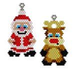 ThreadABead Santa and Reindeer Earring