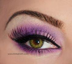 VIDEO TUTORIAL Matte Purple Eyeshadow for Hazel Eyes