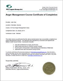 This is a photo of Stupendous Printable Anger Management Certificate
