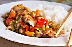 Recept : Kuřecí maso se zeleninou, rýžové nudle | ReceptyOnLine.cz - kuchařka, recepty a inspirace Quinoa, Bulgur