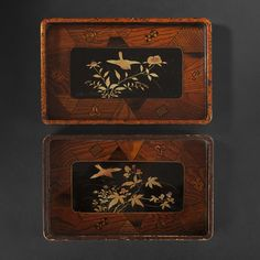 Japanese lacquer trays