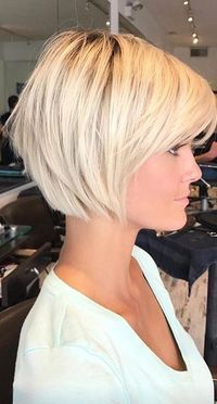 Nice chin length bob with thos